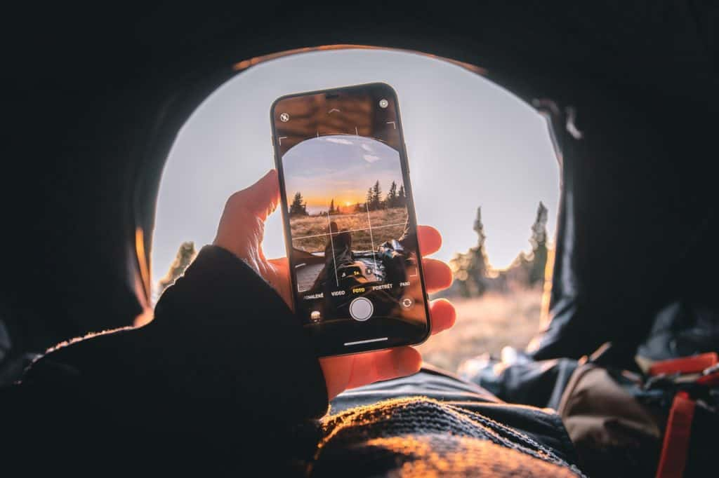 Smartphone Photography in Tent