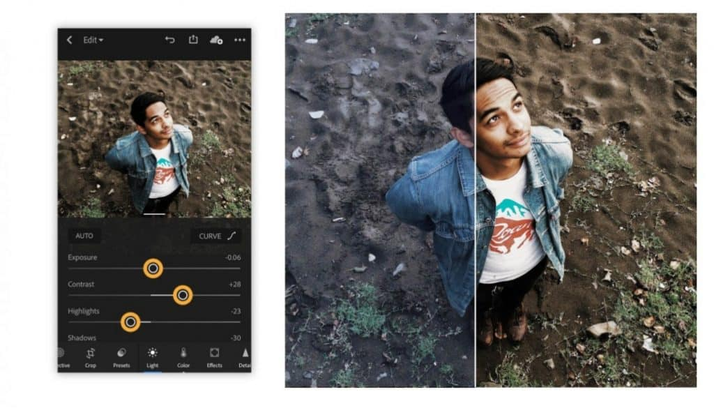 Adobe Lightroom Before and After