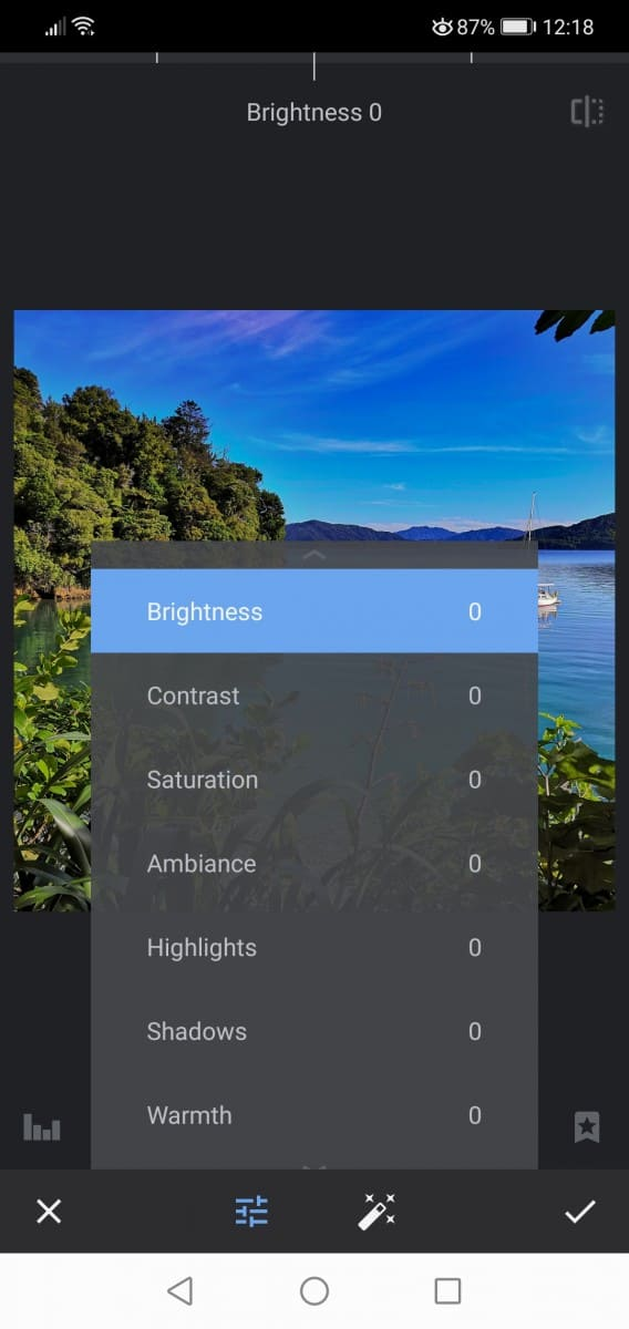 Snapseed Features on Android