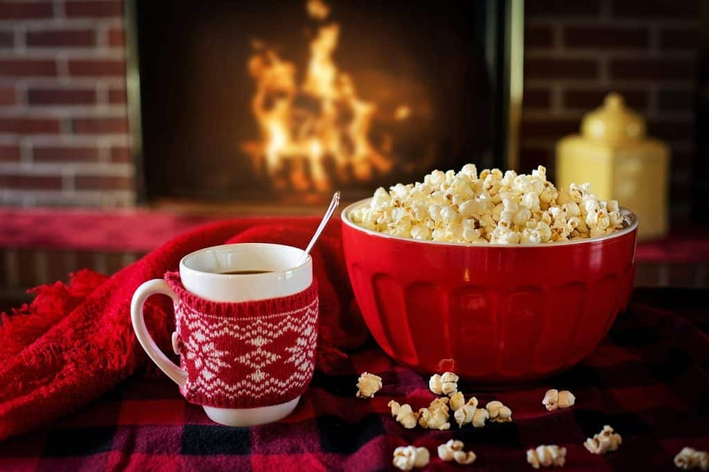Hot Cocoa and Popcorn for Christmas