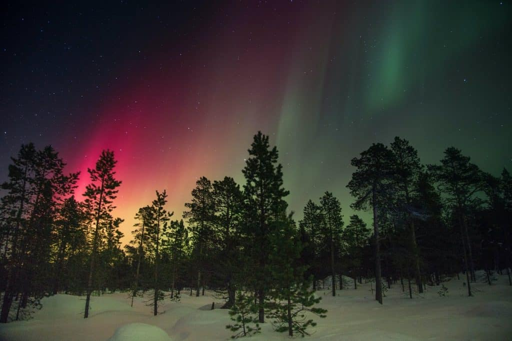 Smartphone Photography Northern Lights Red Tones
