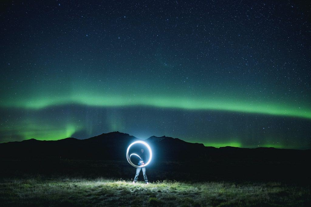 Smartphone Photography Northern Lights and Light Trick